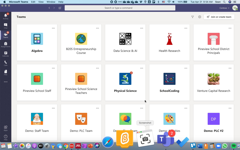SchoolCoding's Microsoft Teams Demo